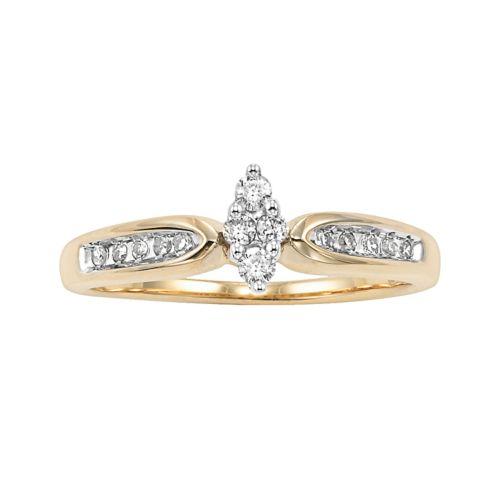Cherish Always Round-Cut Certified Diamond Engagement Ring in 10k Gold (1/5 ct. T.W.)