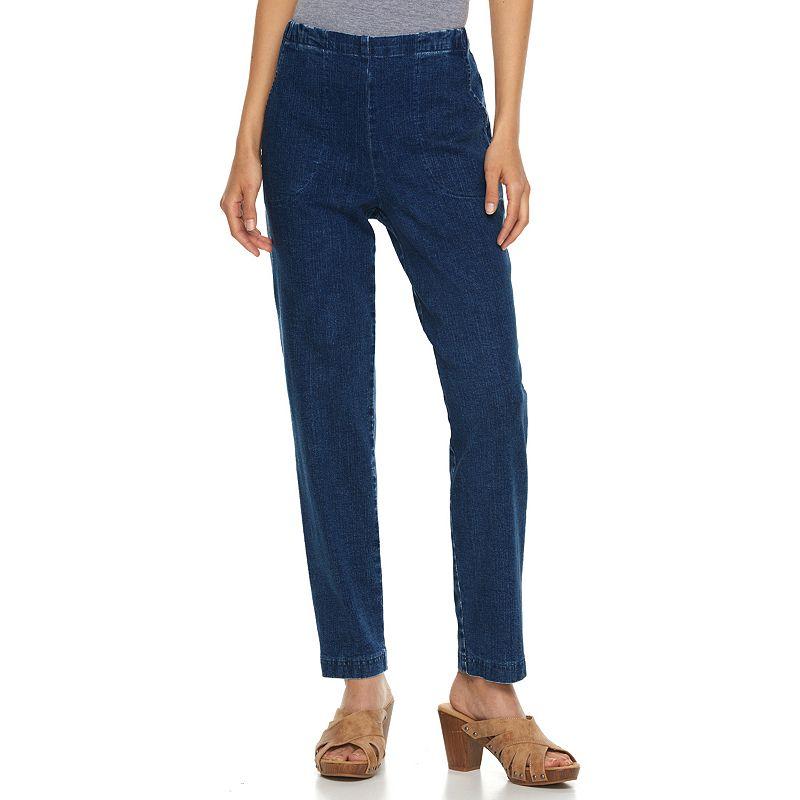Petite Croft & Barrow® Pull-On Jeans, Women's, Size: 6P - SHORT, Dark Indigo