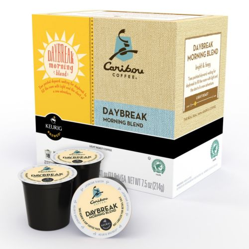 Keurig® K-Cup® Pod Caribou Coffee Daybreak Morning Blend Light Roast Coffee - 18-pk.