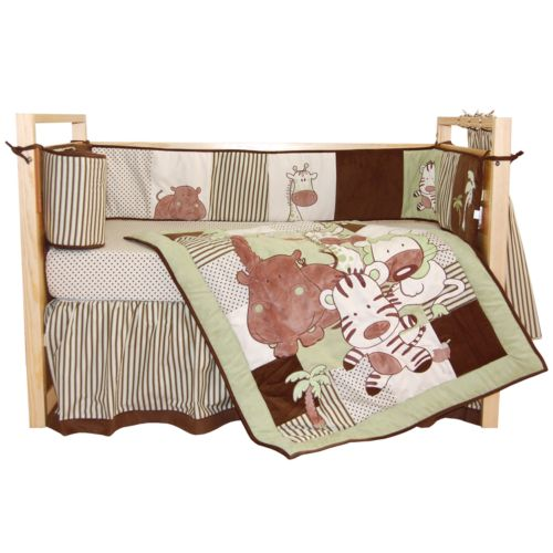 Tadpoles 4-pc. Jungle Spa Crib Set