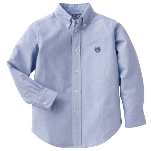 Boys 4-7 Chaps Solid Oxford Button-Down Shirt