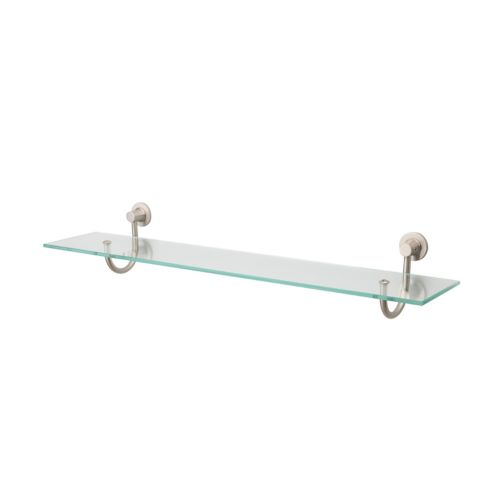 Neu Home Nickel-Mounts Glass Shelf