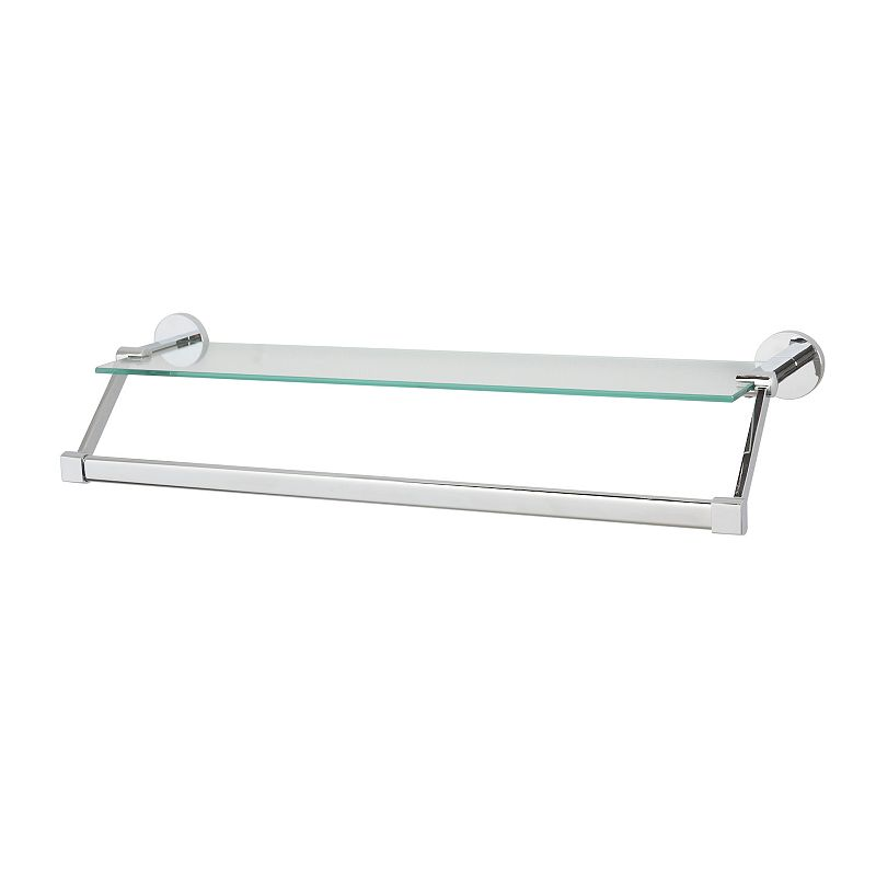 Neu Home Glass Shelf Towel Rack - Silver