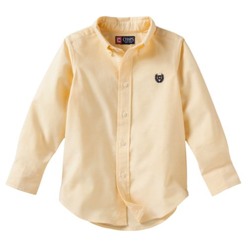 Toddler Boy Chaps Solid Oxford Button-Down Shirt