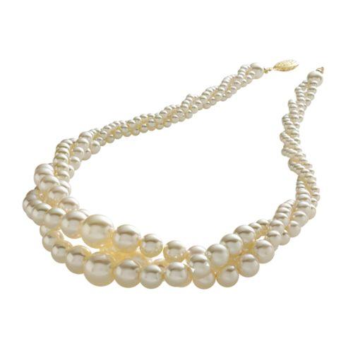 Croft & Barrow® Simulated Pearl Twist Necklace