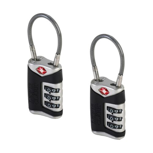 Lewis N. Clark Luggage Cable Lock Set