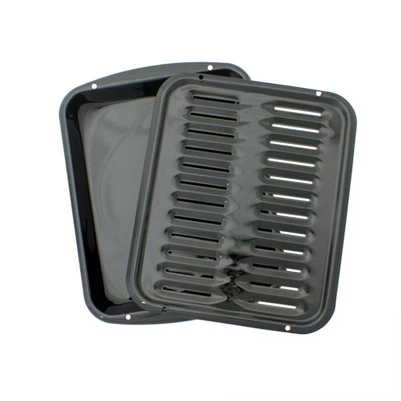 Range Kleen Black Broiler Pan Set