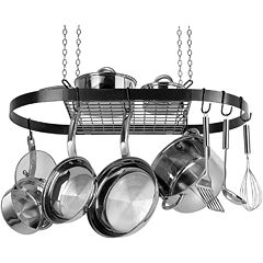 Range Kleen Wrought Iron Oval Pot Rack by