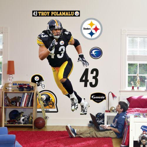 Fathead Pittsburgh Steelers Troy Polamalu Wall Decal