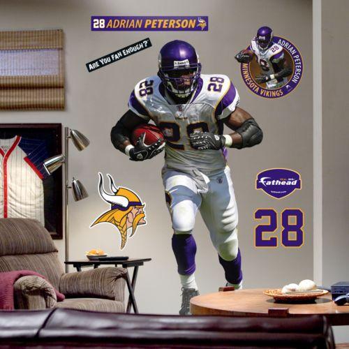 Fathead Minnesota Vikings Adrian Peterson Wall Decal