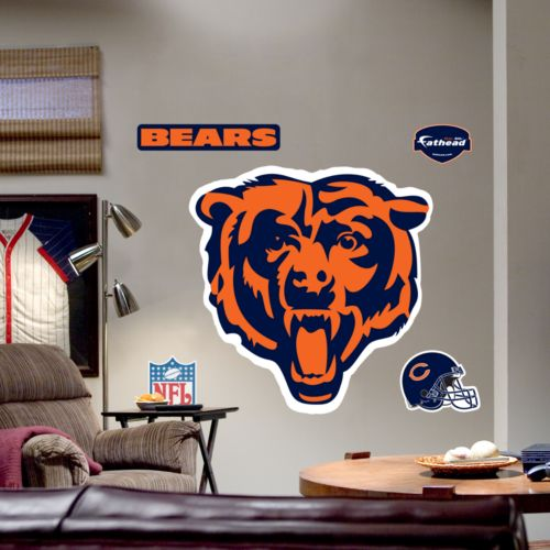 fathead chicago bears logo wall decal fathead chicago bears helmet wall decals ebay
