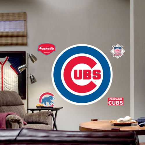 Fathead Chicago Cubs Logo Wall Decal