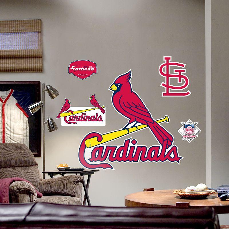 fathead st louis cardinals logo wall decal. Black Bedroom Furniture Sets. Home Design Ideas