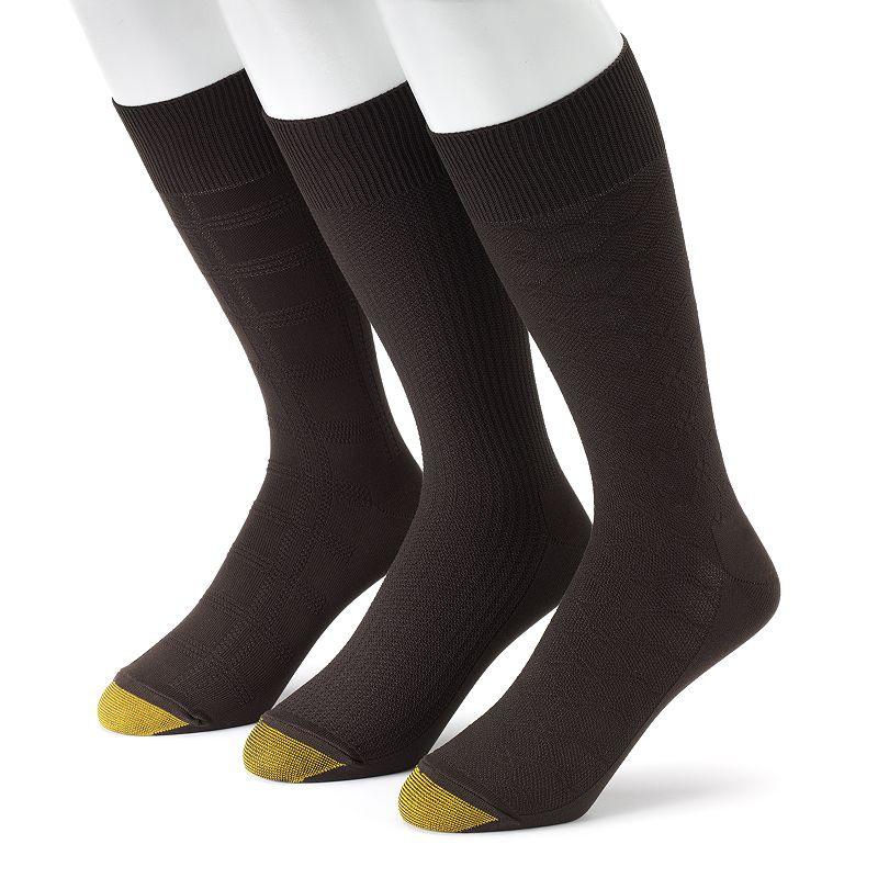 Men's GOLDTOE 3-pk. Ultrasoft Dress Socks