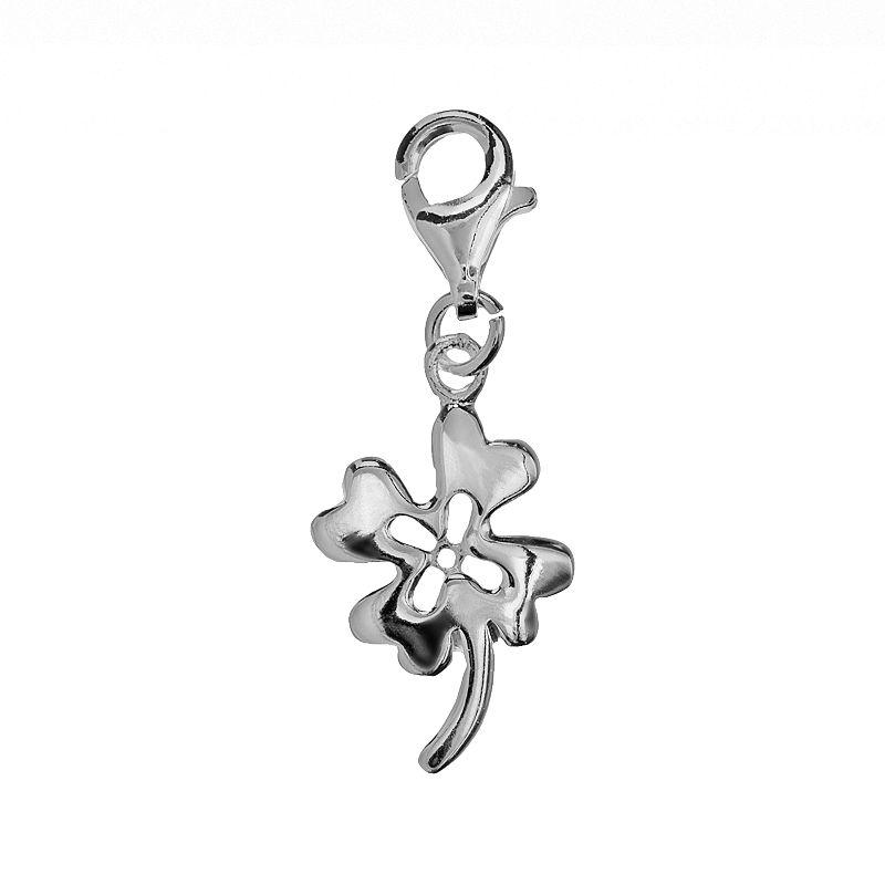 Sterling Silver Four-Leaf Clover Charm