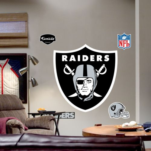 Fathead Oakland Raiders Logo Wall Decal