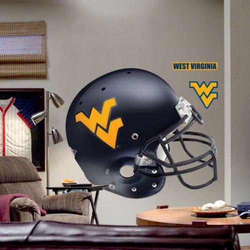 Fathead West Virginia University Mountaineers Helmet Wall Decal