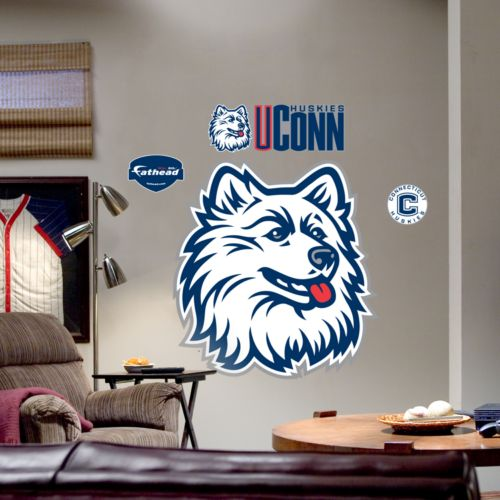 Fathead University of Connecticut Huskies Logo Wall Decal