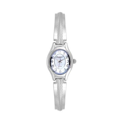 Precision by Gruen Silver Tone Herringbone Watch - Women