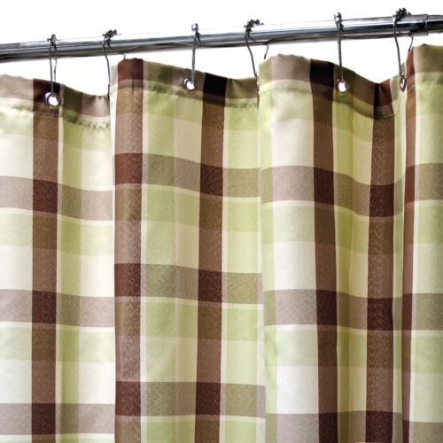 Park B. Smith Watershed Dorset Brown Plaid Fabric Shower Curtain