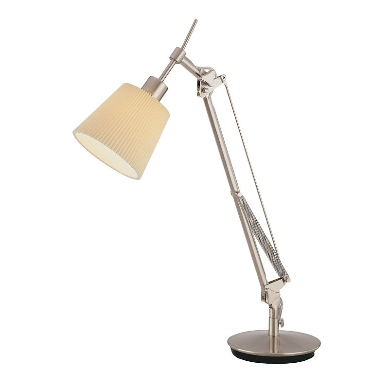 RICCI TABLE LAMP WHITE SILVER