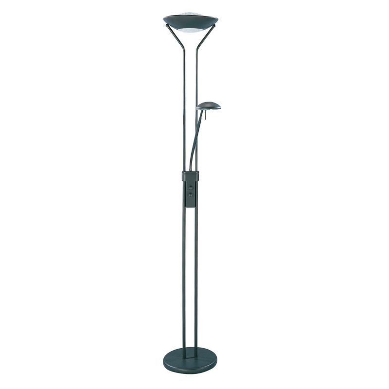 Duality Torchiere and Reading Floor Lamp, Black thumbnail