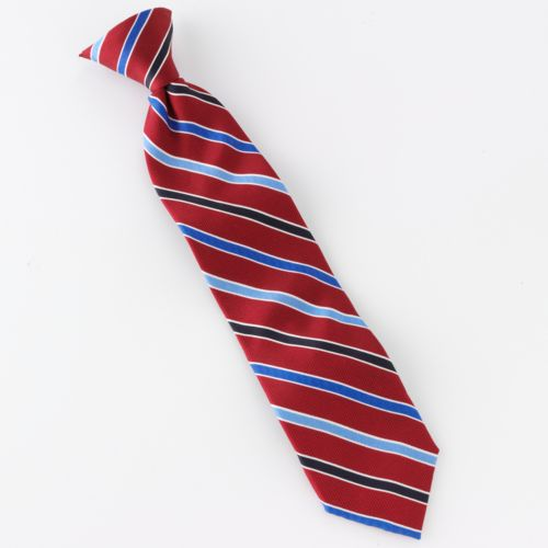 Chaps Striped Clip-On Tie