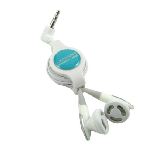 Lenmar Retractable Earbud Headphones
