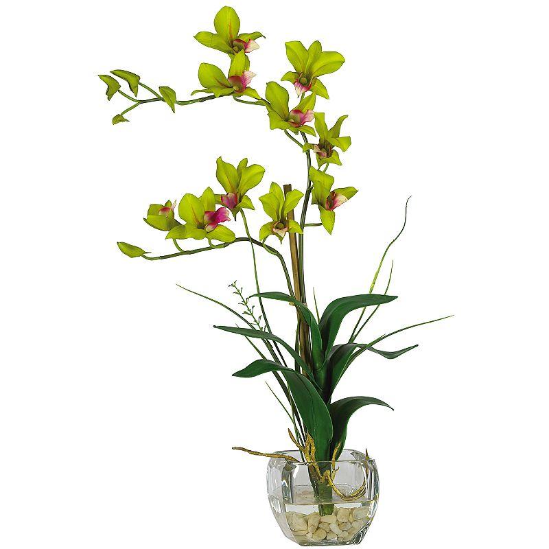 nearly natural Silk Dendrobium Floral Arrangement