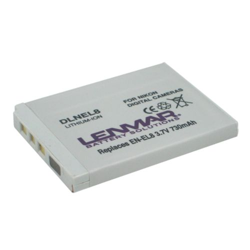 Lenmar Nikon Digital Camera DLNEL8 Lithium-Ion Replacement Battery