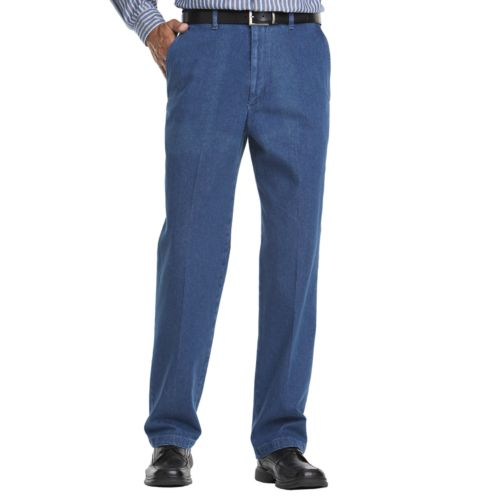 Haggar® Work to Weekend® Flat-Front Denim Pants - Big & Tall
