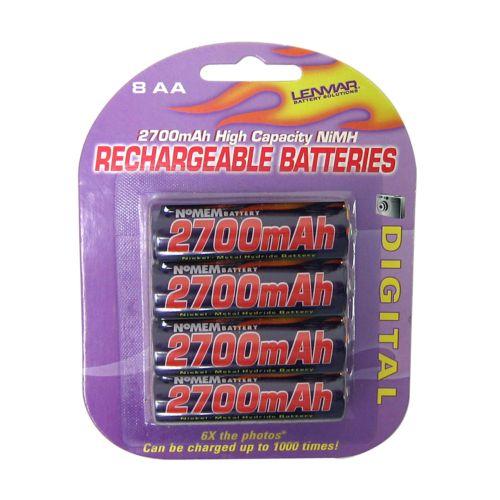 Lenmar 8-pk. PRO827 Nickel-Metal Hydride AA Rechargeable Batteries