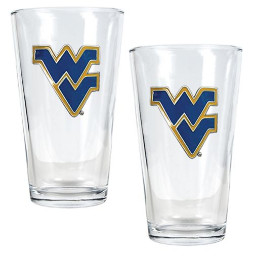 West Virginia University Mountaineers 2-pc. Pint Ale Glass Set
