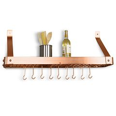 Old Dutch Copper Wall-Mount Pot Rack by
