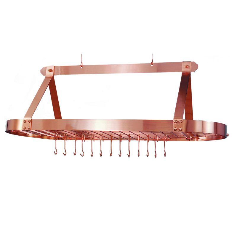 Old Dutch Copper Hanging Oval Pot Rack