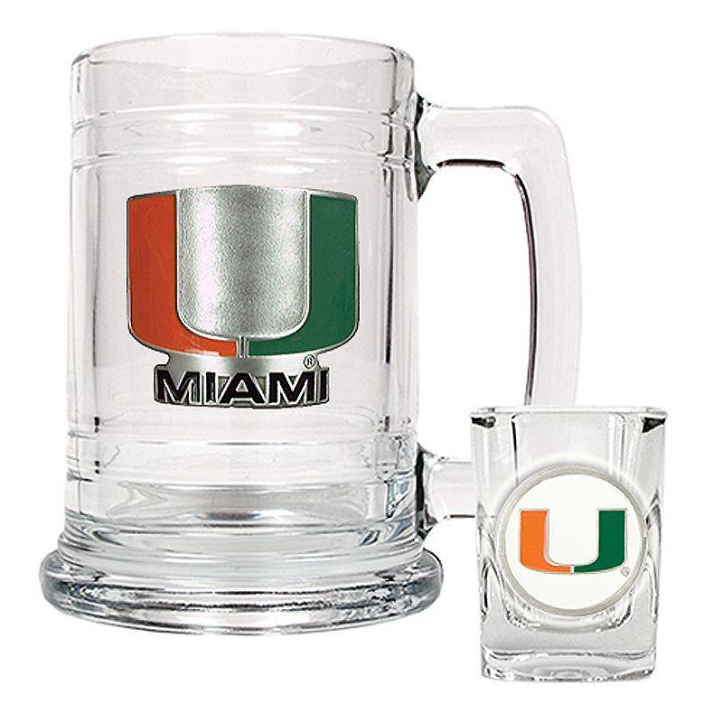 University of Miami Hurricanes Mug and Shot Glass Set
