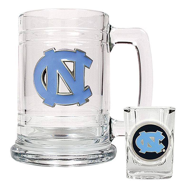 University of North Carolina Tar Heels Mug and Shot Glass Set