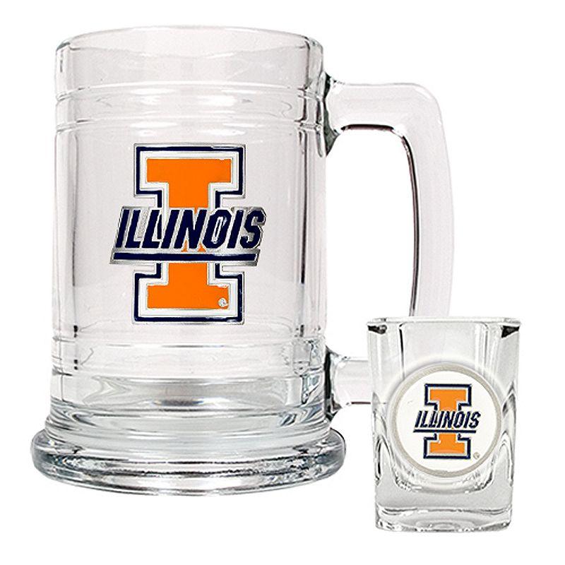 University of Illinois Fighting Illini 2-pc. Mug and Shot Glass Set