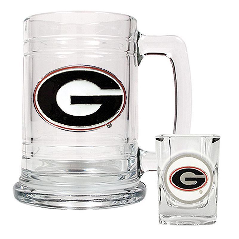 University of Georgia Bulldogs Mug and Shot Glass Set