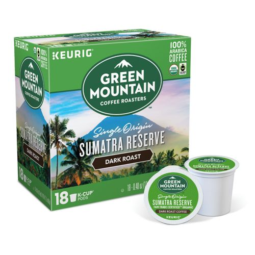 Keurig® K-Cup® Pod Green Mountain Coffee Sumatran Reserve Organic Dark Roast Coffee - 18-pk.