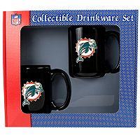 Miami Dolphins 2-pc. Ceramic Mug Set