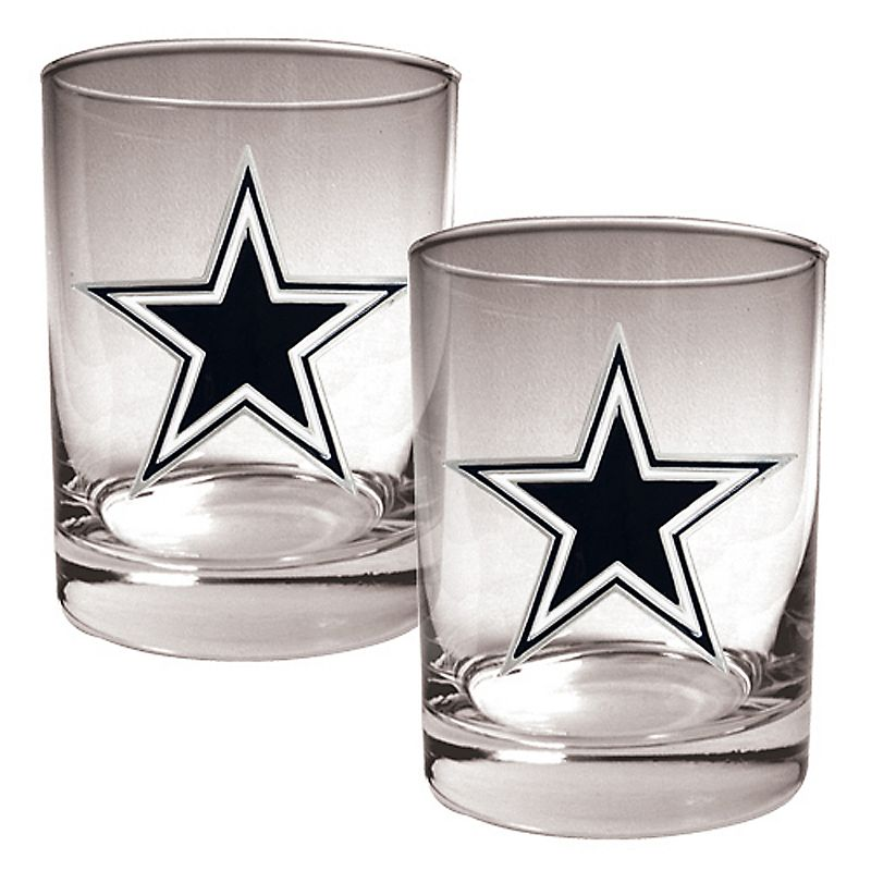 Dallas Cowboys 2-pc. Rocks Glass Set