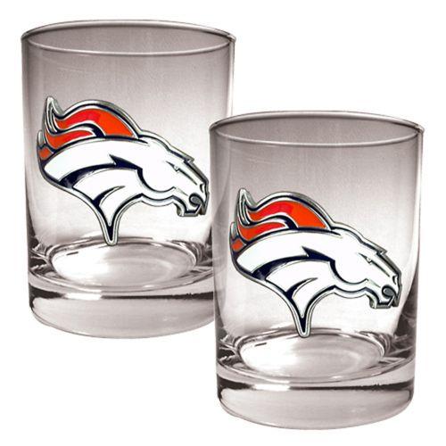 Denver Broncos 2-pc. Rocks Glass Set
