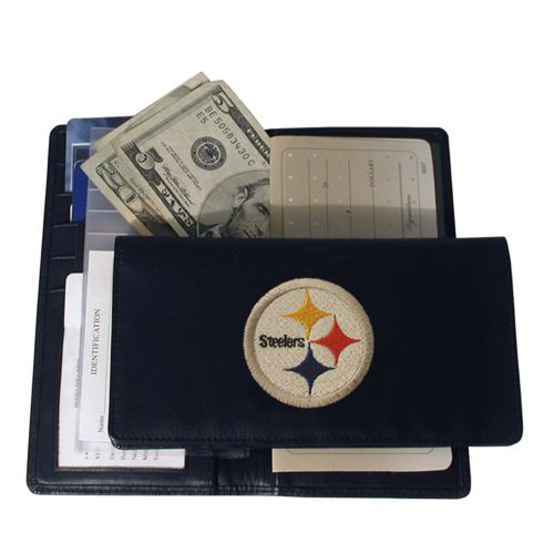 Pittsburgh Steelers Leather Checkbook Wallet