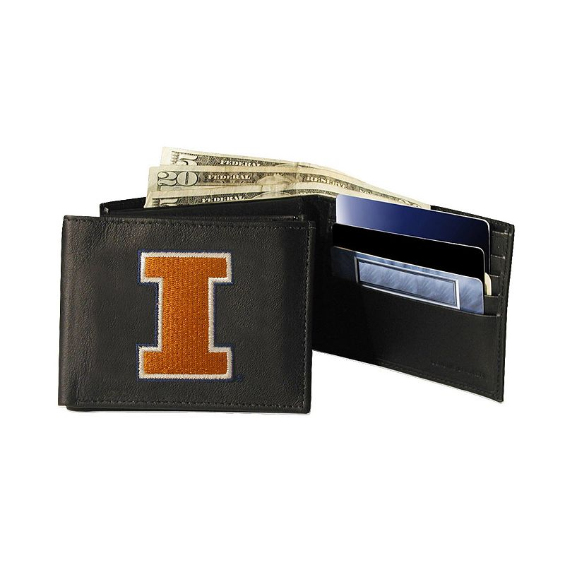 University of Illinois Fighting Illini Bifold Leather Wallet