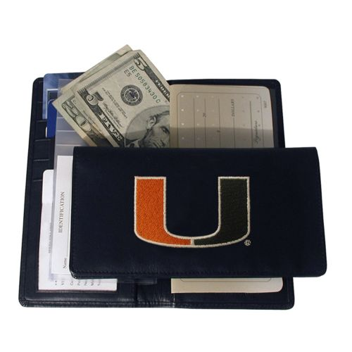 University of Miami Hurricanes Checkbook Wallet