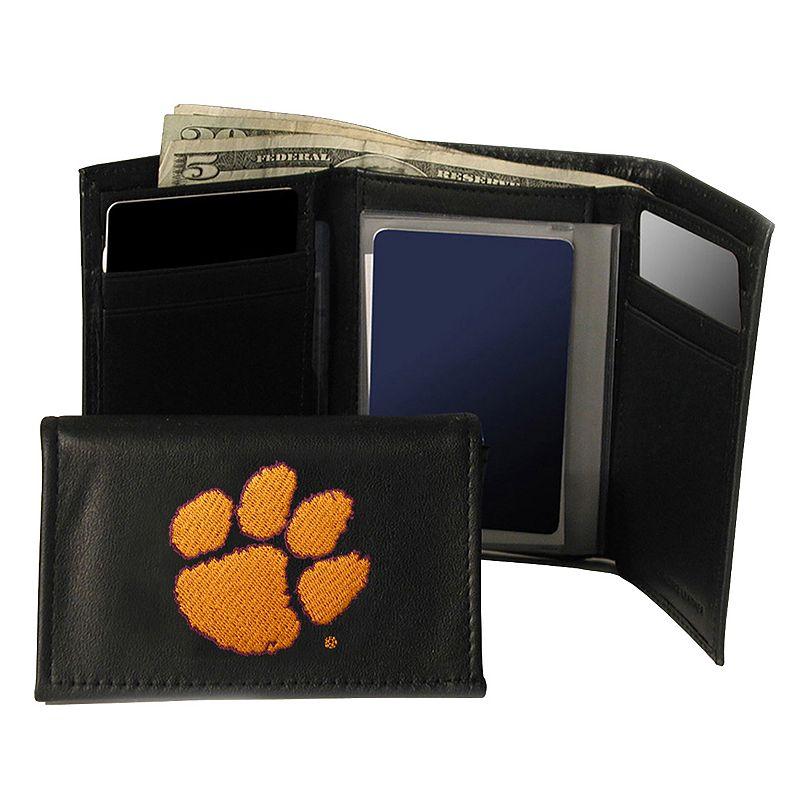 Clemson University Tigers Trifold Leather Wallet