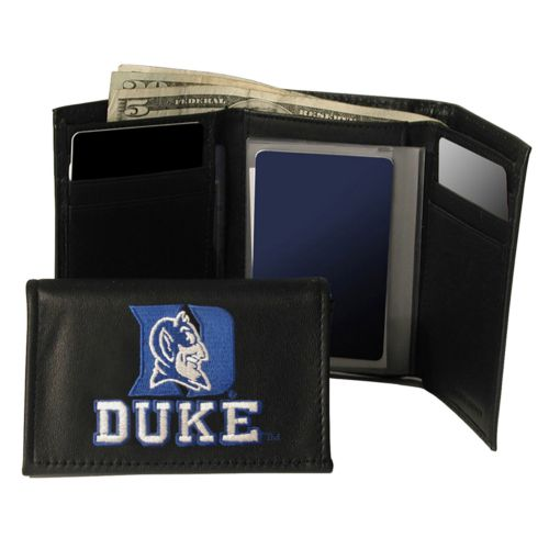 Duke University Blue Devils Trifold Leather Wallet
