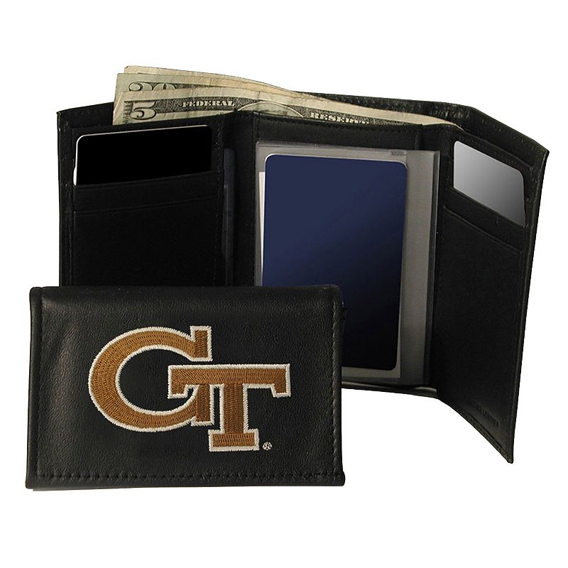 Georgia Tech Yellow Jackets Trifold Leather Wallet