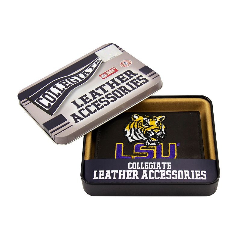 Louisiana State University Tigers Trifold Leather Wallet